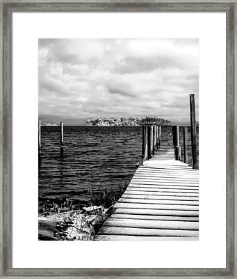 Slippery Dock Framed Print