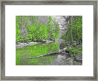 Framed Print featuring the photograph Slippery Rock Creek In Spring by Digital Photographic Arts