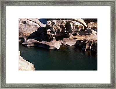 Slippery Rock Raft Launch - Kern River Framed Print by Soli Deo Gloria Wilderness And Wildlife Photography
