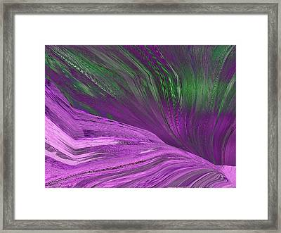 Slippery Slope Framed Print by Tim Allen