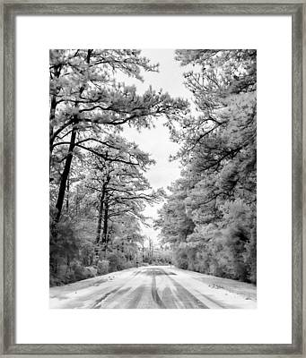 Slippery When Frozen Framed Print