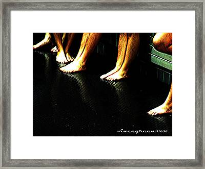 Slippery When Wet Framed Print