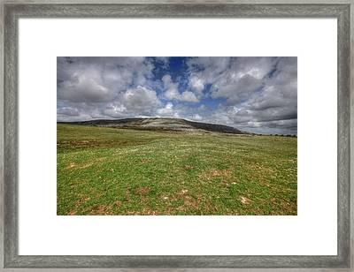 Slive Carran Mountain Framed Print by John Quinn
