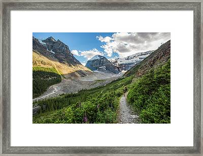 Sliver Of Light - Banff Framed Print