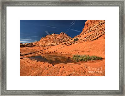 Sliver Of Reflection Framed Print by Adam Jewell