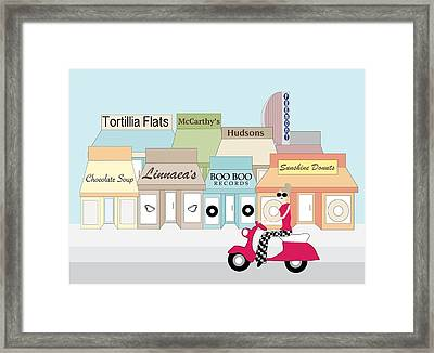 Slo Town Color Framed Print