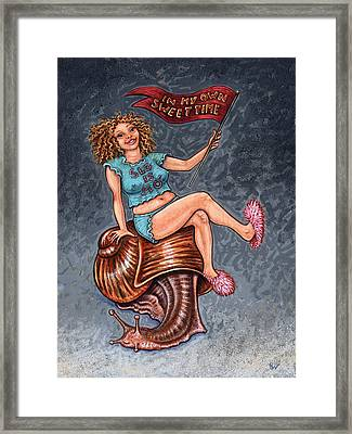 Slo Woman Framed Print