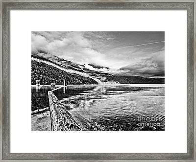 Slocan Lake Bc Framed Print by Emilio Lovisa