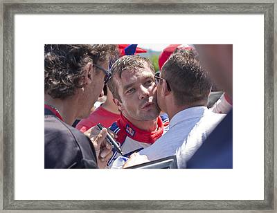 S.loeb 2 Minutes After Winning Wrc Rally Bulgaria 2010 Framed Print