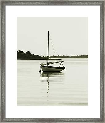 Sloop At Rest  Framed Print