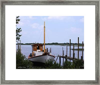Sloop In Paradise - Debbie May - Photosbydm Framed Print by Debbie May