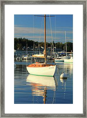 Framed Print featuring the photograph Sloop Reflections by Roupen  Baker