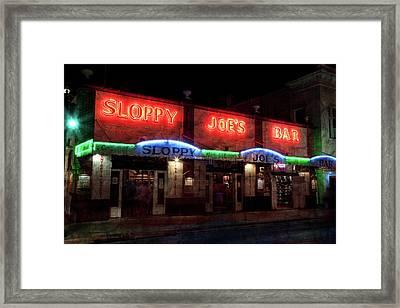 Sloppy Joes Bar Framed Print by John Stephens