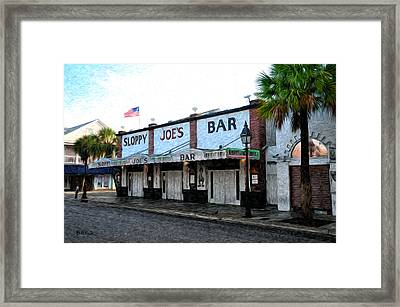 Sloppy Joe's Bar Key West Framed Print by Bill Cannon