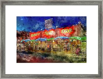 Sloppy Joes Key West Framed Print