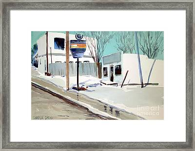 Framed Print featuring the painting Sloppy Slushy Washington Ave. Matted Framed Glassed by Charlie Spear