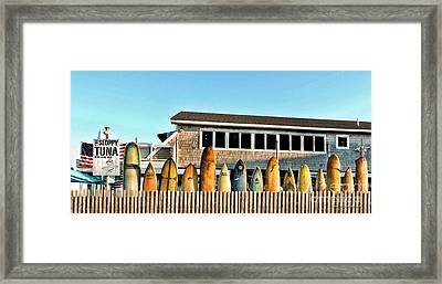 Sloppy Tuna Restaurant, Montauk Long Island Framed Print by Joan  Minchak