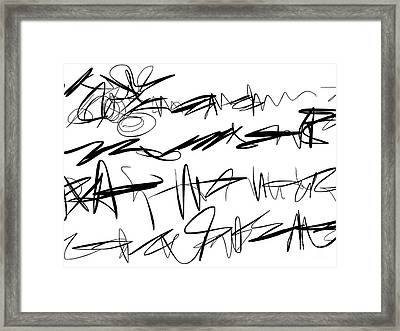 Sloppy Writing Framed Print