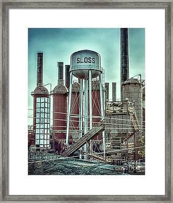 Sloss Furnaces Tower 3 Framed Print