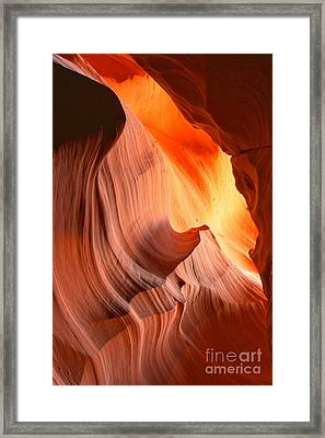 Slot Canyon Fiery Bands Framed Print