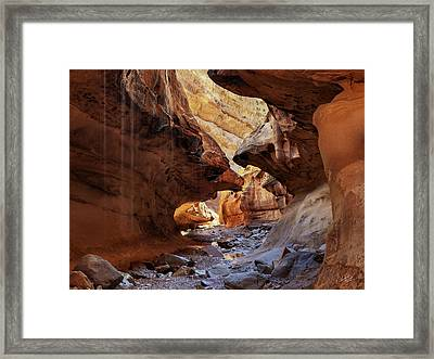 Slot Canyon Forms And Light Framed Print by Leland D Howard