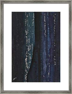 Slot Canyon In Moonlight Original Painting Framed Print by Sol Luckman