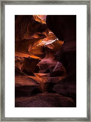 Slot Canyon Red Framed Print