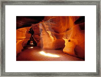 Slot Canyon Warm Light Framed Print