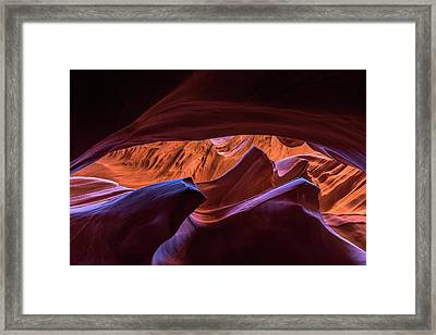 Framed Print featuring the photograph Lower Antelope by Chuck Jason