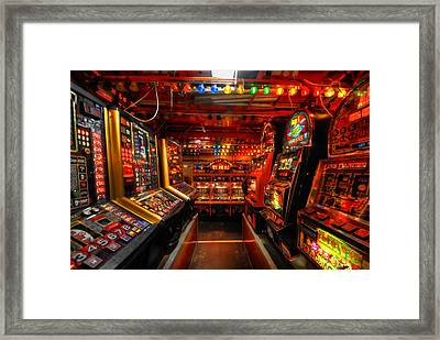 Slot Machines Framed Print