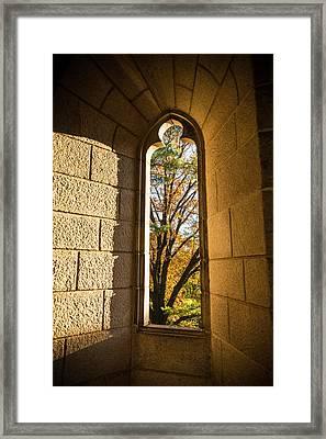 Slot Window Framed Print by Kristopher Schoenleber