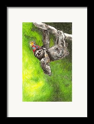 Kristen Bell Drawings Framed Prints