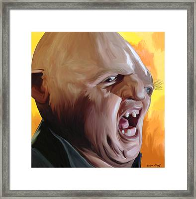 Sloth From Goonies Framed Print by Brett Hardin