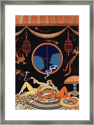 Sloth Framed Print by Georges Barbier