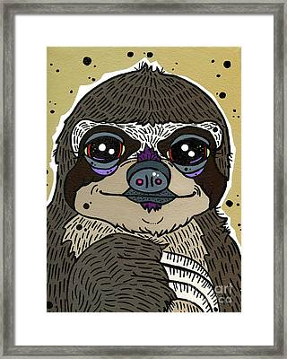 Sloth Framed Print by Nicole Wilson