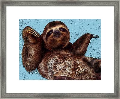 Sloth Pop Art Framed Print