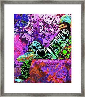 Framed Print featuring the mixed media Slouch by Tony Rubino