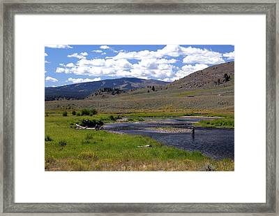 Slough Creek Angler Framed Print