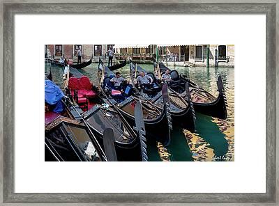 Slow Day, Venice Framed Print