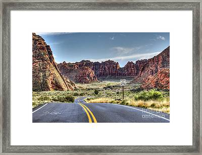 Slow Down In Snow Canyon Framed Print