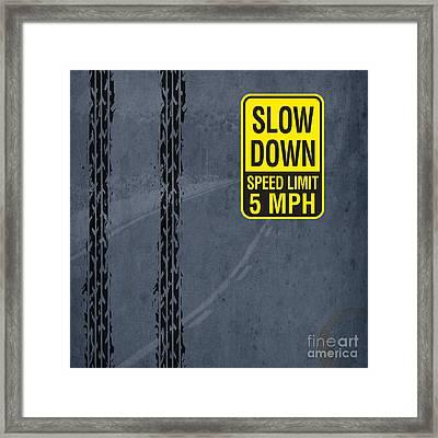 Slow Down, Man Framed Print by Pablo Franchi