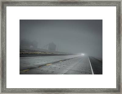 Slow Drive Home Framed Print