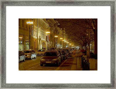 Slow Evening In Prague's Center Framed Print by Marek Boguszak