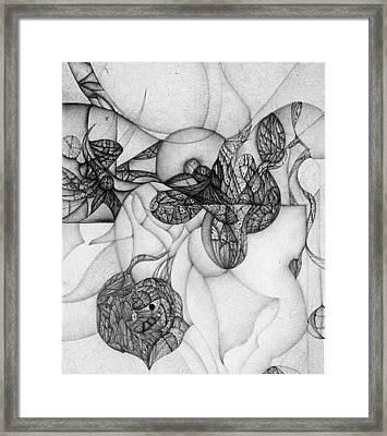 Framed Print featuring the drawing slow motion falling Black and White Edition by Jack Dillhunt