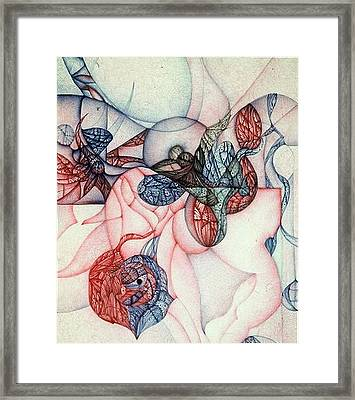 Framed Print featuring the drawing Slow Motion Falling Image One by Jack Dillhunt