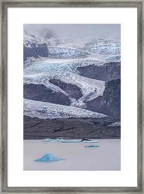 Slow Motion Glacier Framed Print by Jon Glaser