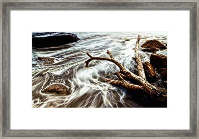 Framed Print featuring the photograph Slow Motion Sea by Cameron Wood