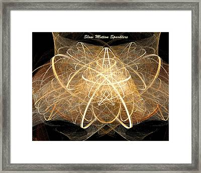 Framed Print featuring the digital art Slow Motion Sparkler by R Thomas Brass