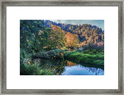 Slow Moving River Framed Print by Debra and Dave Vanderlaan