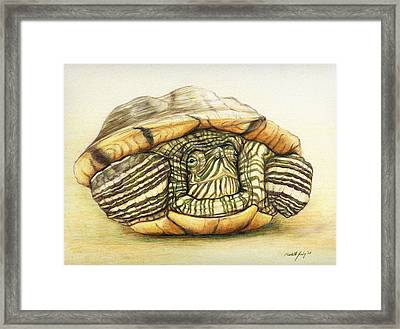 Slow Retreat Framed Print
